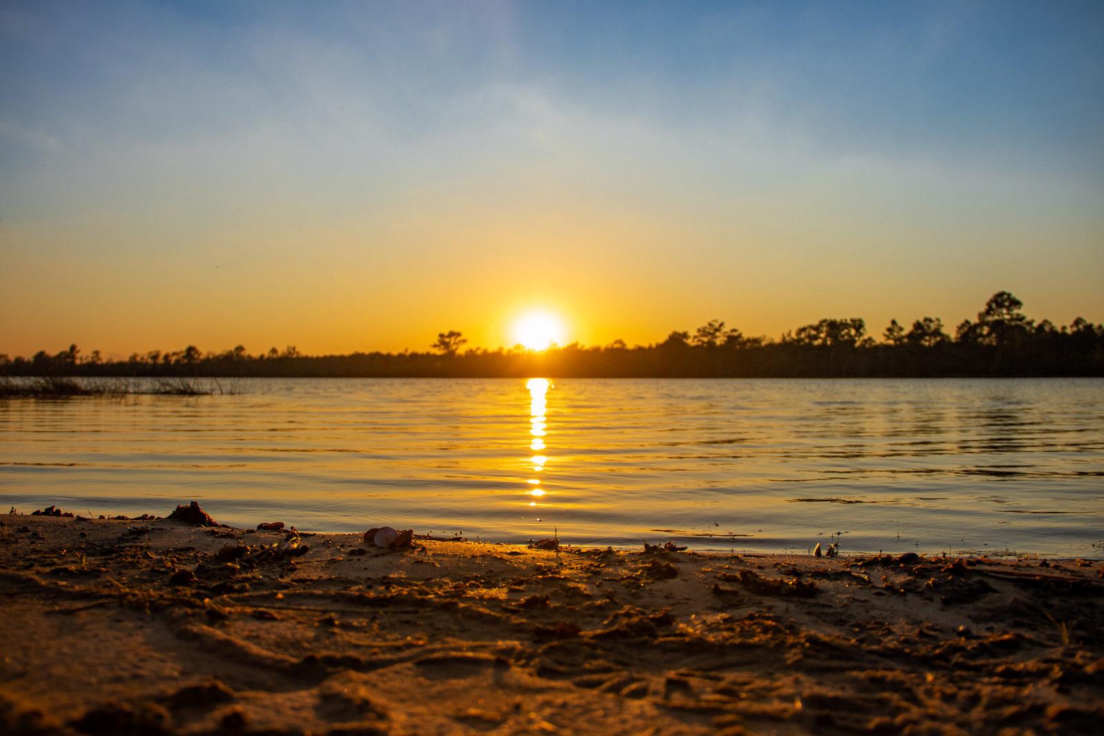 Big Creek Lake Sunset
