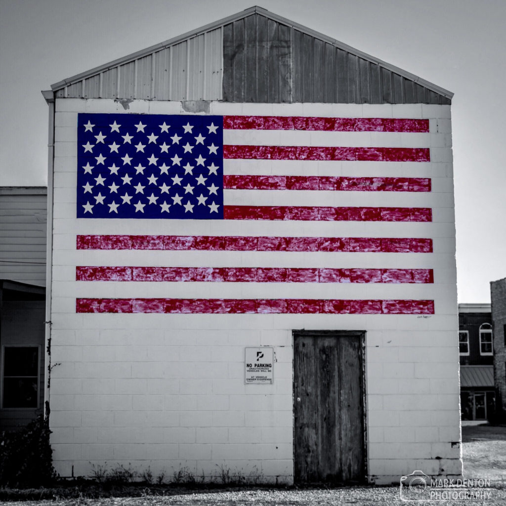 US flag mural in Cullman, AL