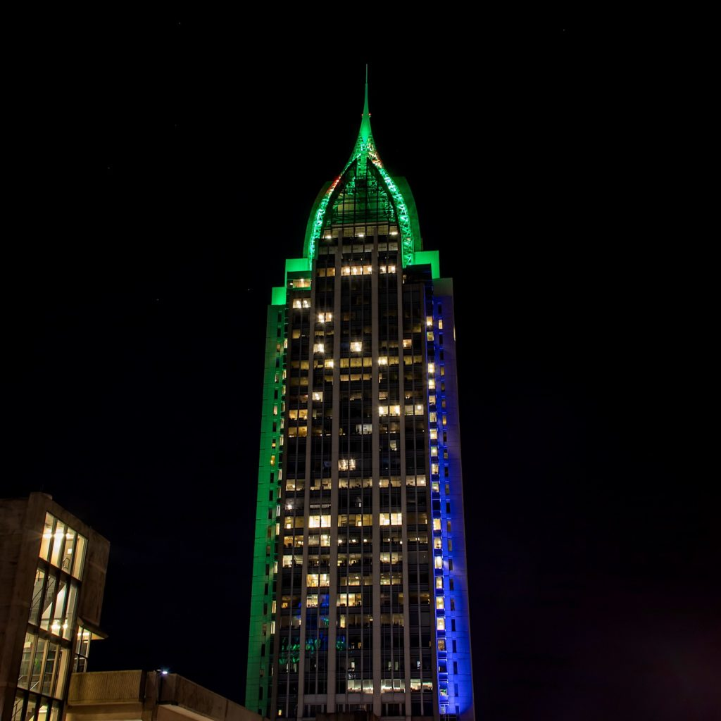 RSA Tower in Downtown Mobile, AL