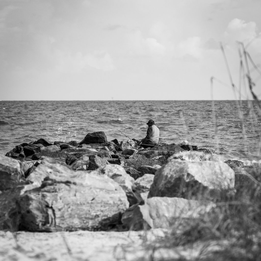 Man fishing on Dauphin Island