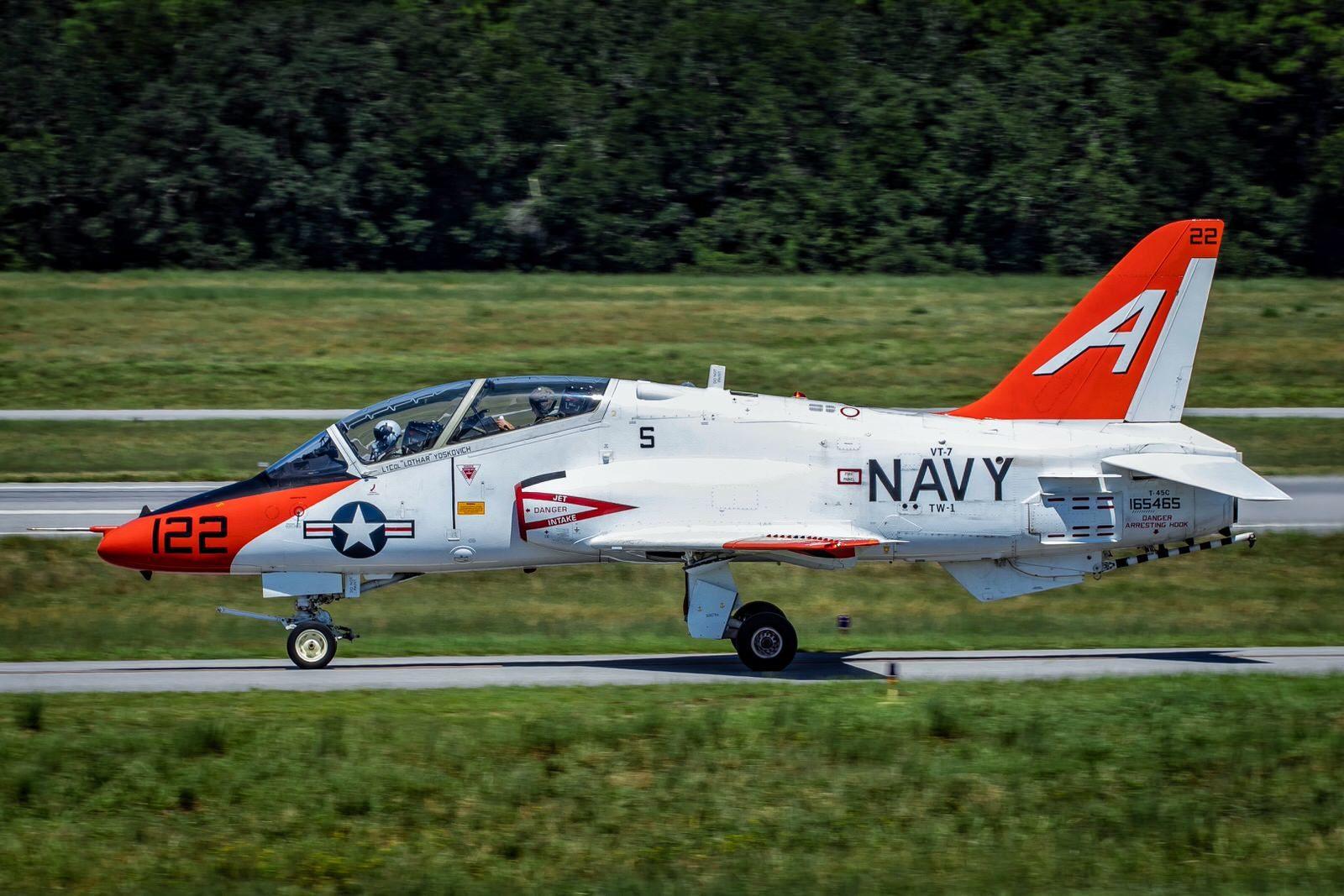 US Navy T-45 at PNS