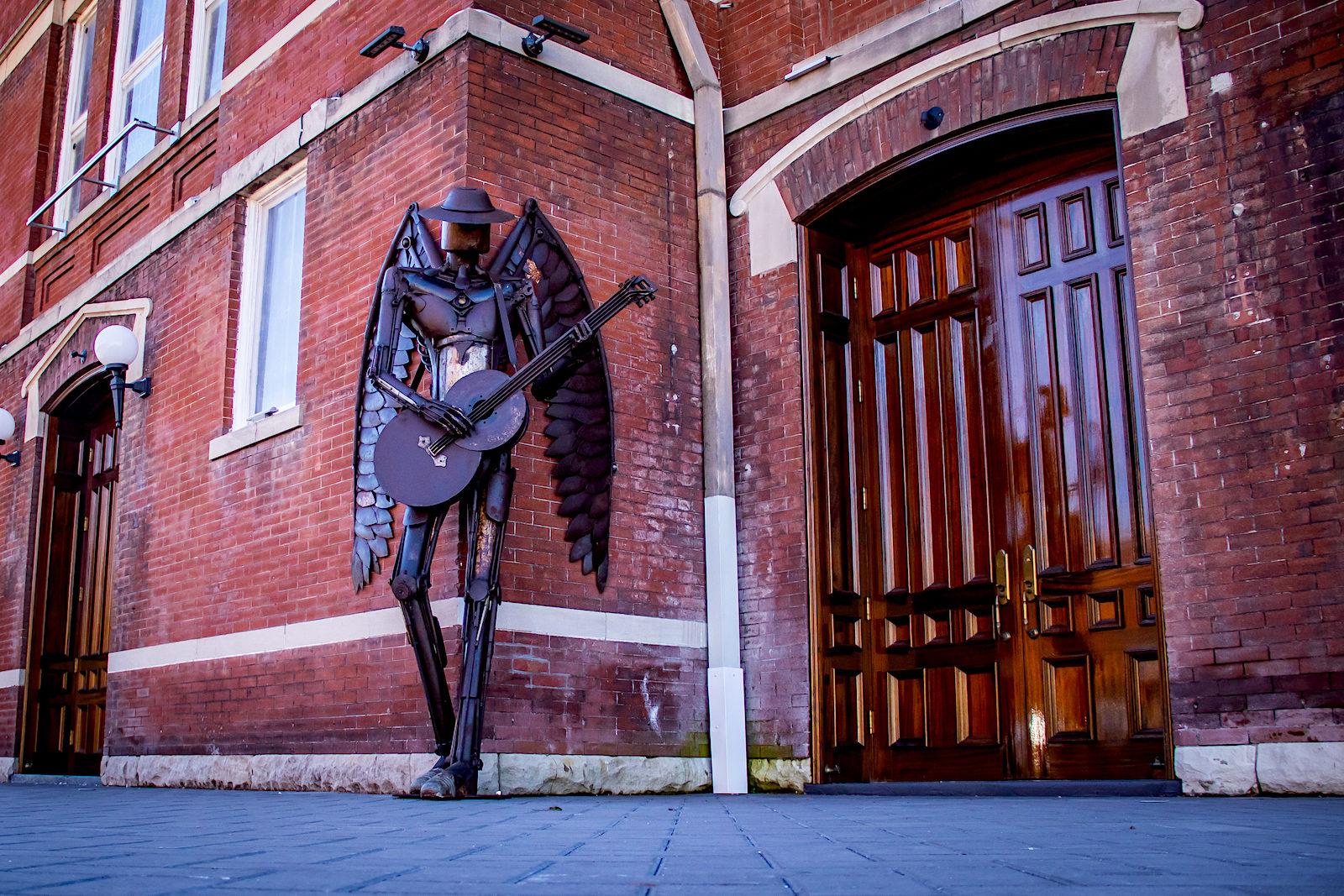 """Musician angel """"Heavenly Metal"""" at The Steeple in Mobile, AL"""