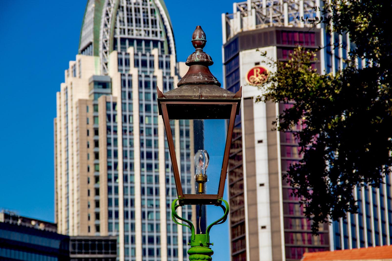 Lantern in Downtown Mobile, AL