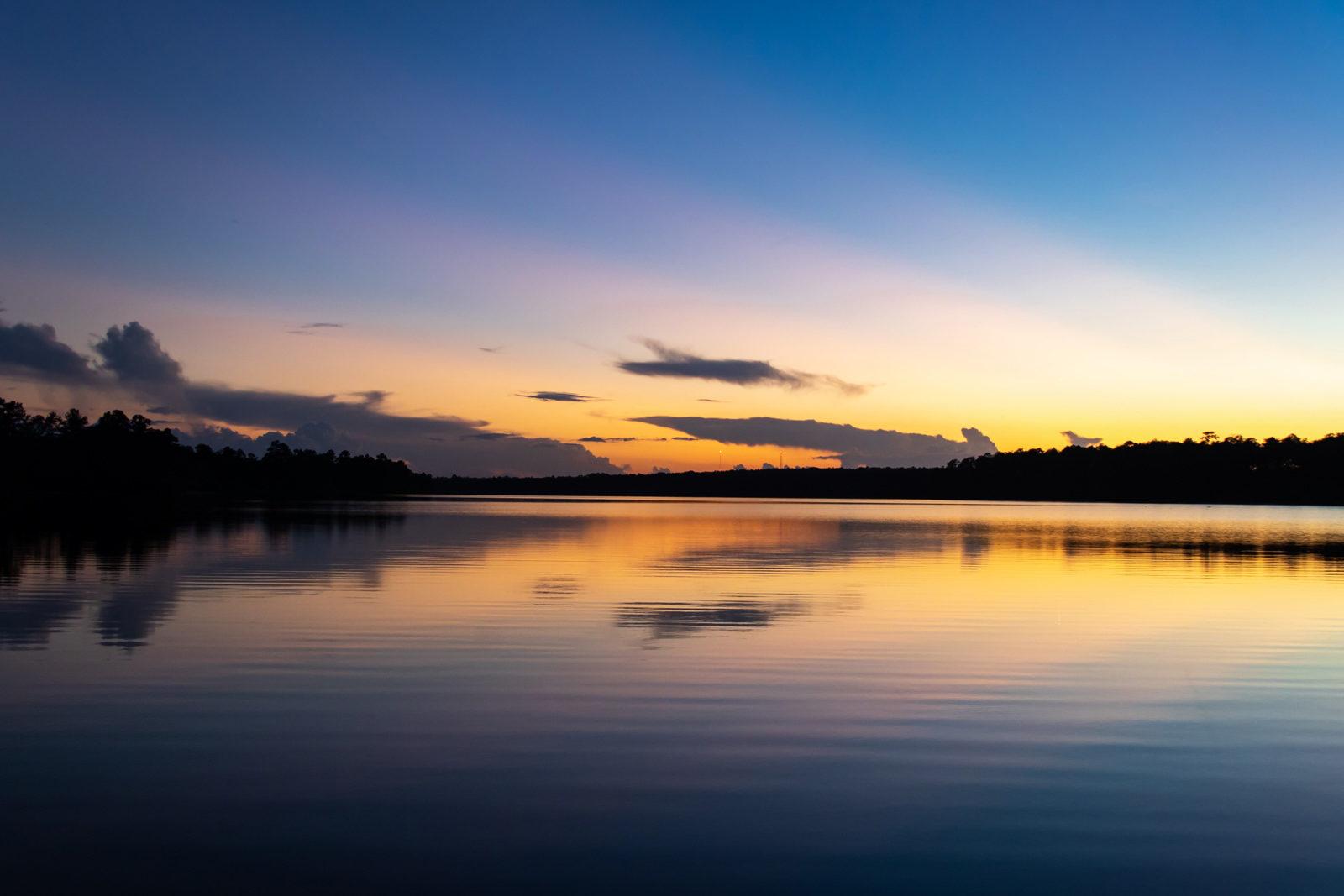 Sunset at Big Creek Lake in Semmes, AL