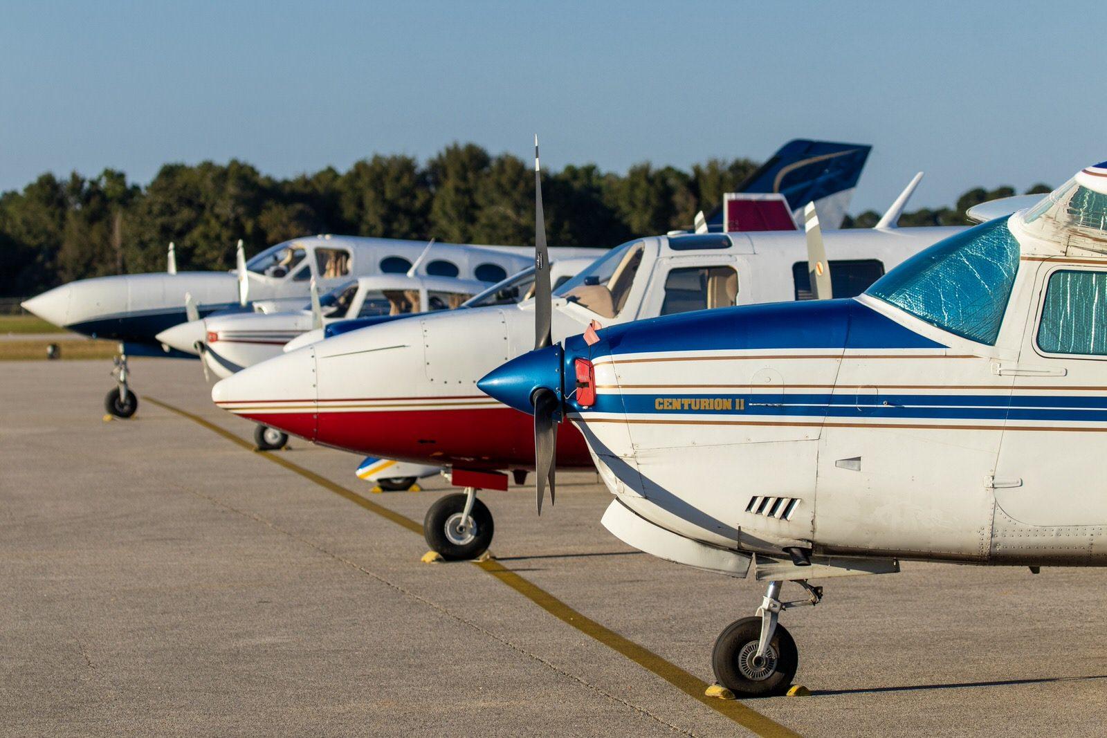 Aircraft on JKA flight line
