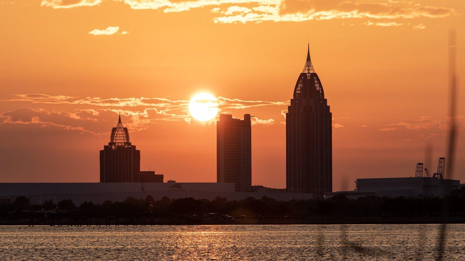 Sunset in Mobile, AL