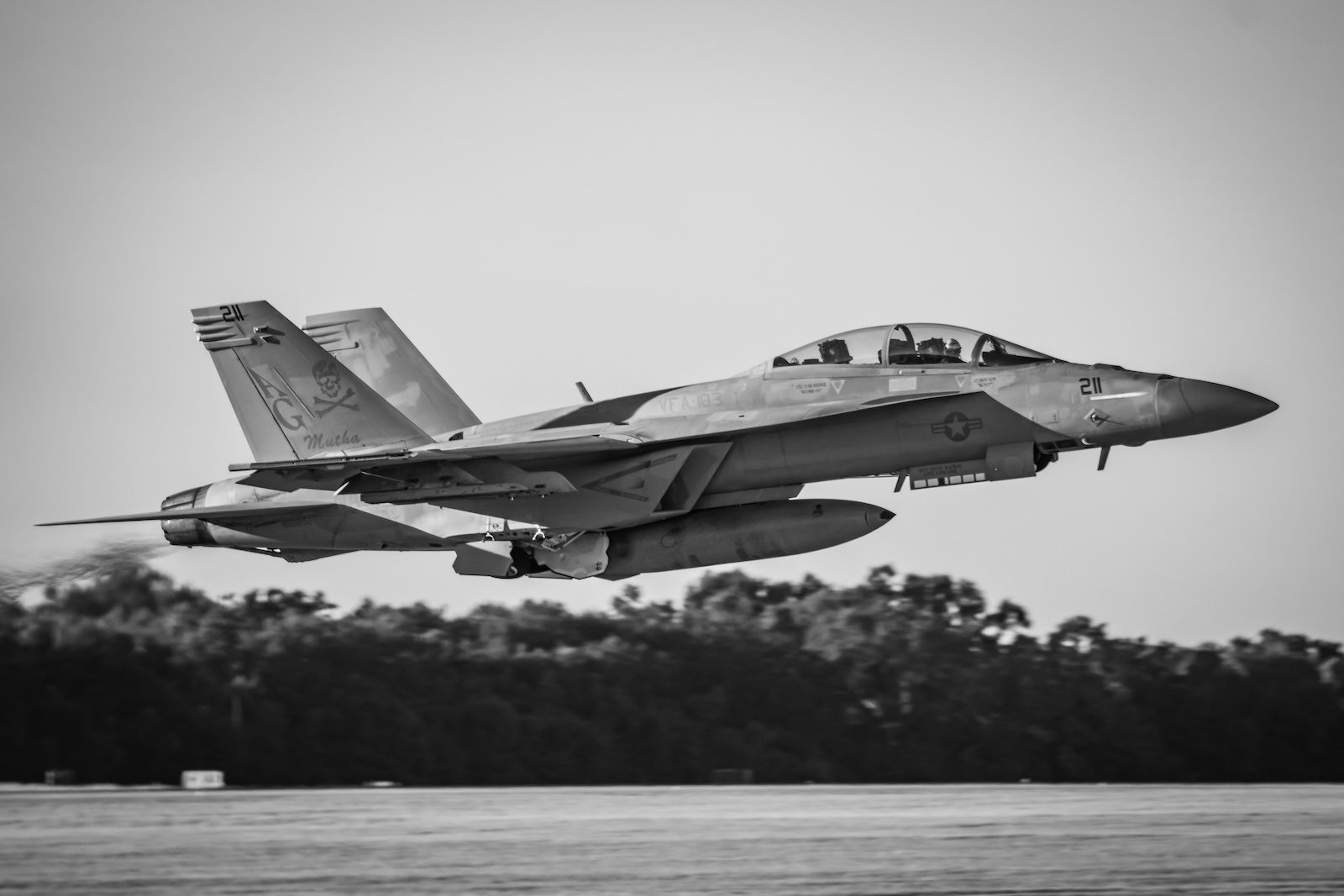 US Navy Boeing F-18F of VFA-103 Jolly Rogers at PNS