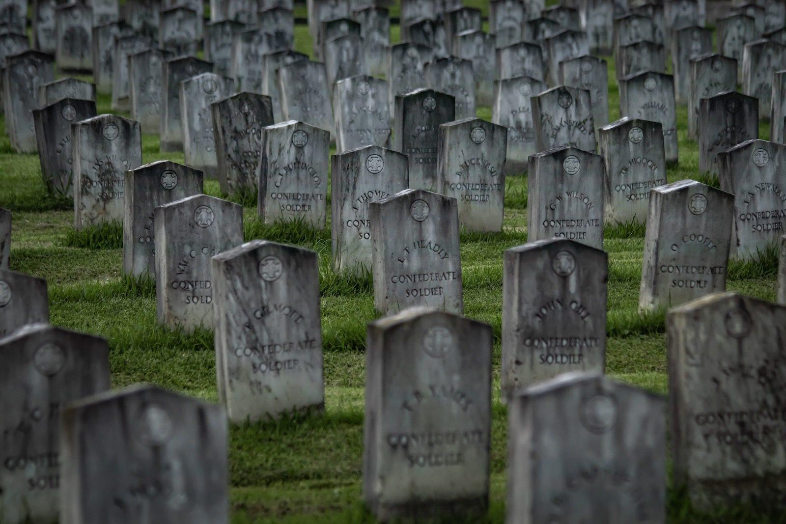 Civil War cemetery in Mobile, AL