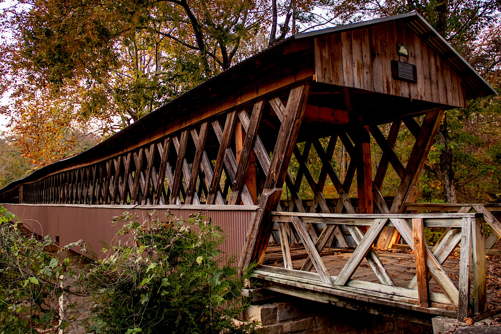 Historic Clarkson Covered Bridge in Cullman, AL