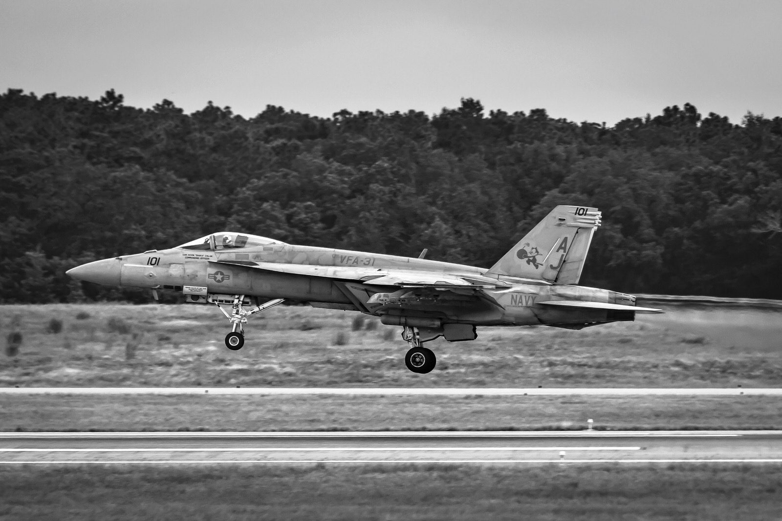 """F-18 Super Hornet of the VFA-31 """"Tomcatters"""""""