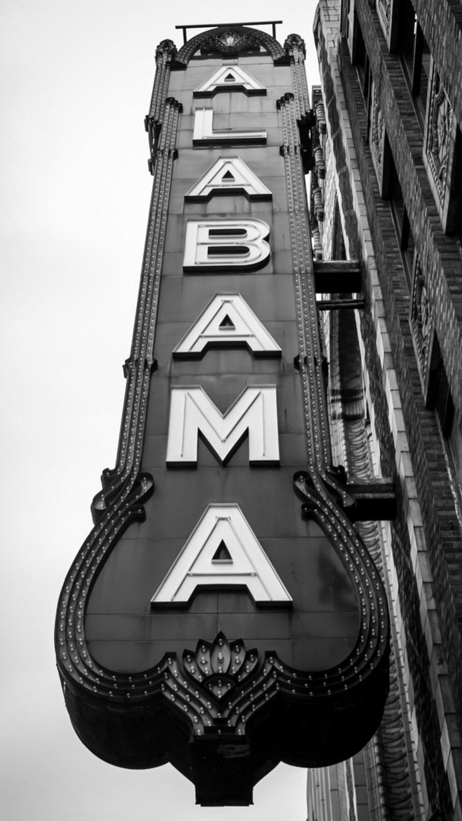 Alabama Theatre sign